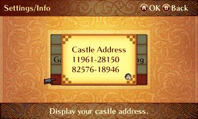 castleaddress